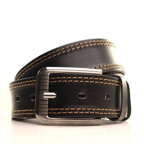 Ремень кожаный Lazar 105-115 см черный-рыжий l40y1w2, фото 2