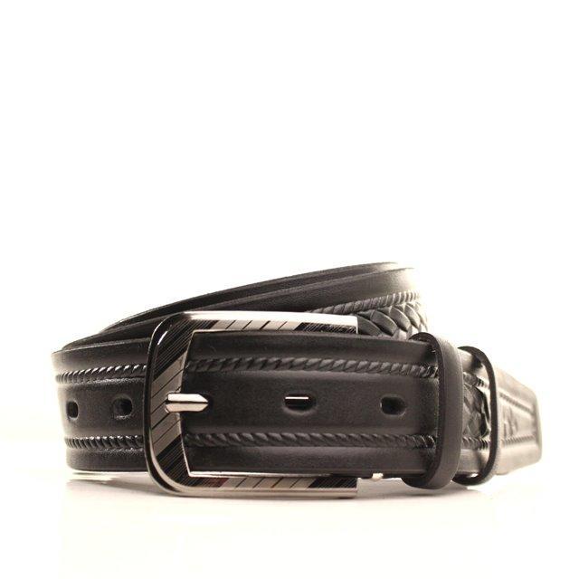 Ремень кожаный Lazar 105-115 см черный l35u1w70