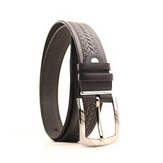 Ремень кожаный Lazar 105-115 см черный l35u1w70, фото 2
