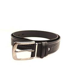 Ремень кожаный Lazar 105-115 см черный l35u1w70, фото 3