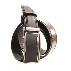 Ремень кожаный Lazar 120-125 см черный l35y1a6, фото 3