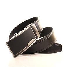 Ремень кожаный Lazar 120-125 см черный l35y1a6, фото 2