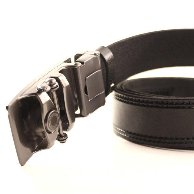 Ремень кожаный Lazar 120-125 см черный l35y1a7