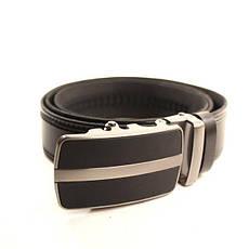Ремень кожаный Lazar 120-125 см черный l35y1a7, фото 3