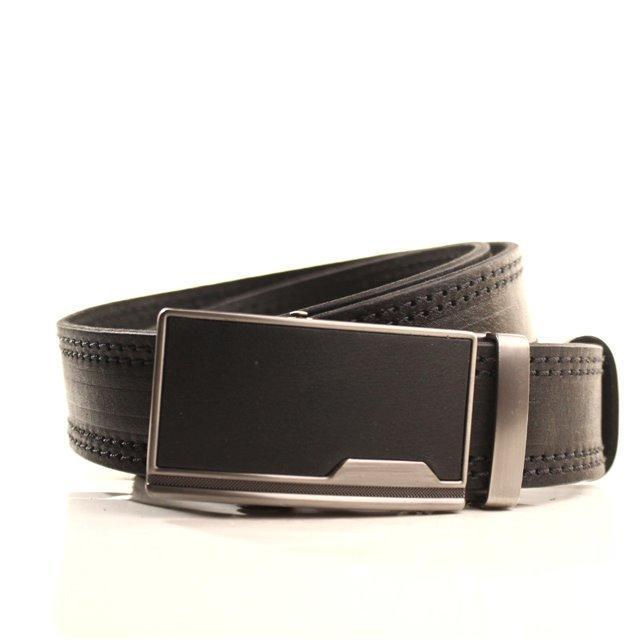Ремень кожаный Lazar 120-125 см черный l35y1a13
