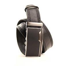 Ремень кожаный Lazar 120-125 см черный l35y1a13, фото 2
