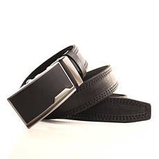 Ремень кожаный Lazar 120-125 см черный l35y1a13, фото 3