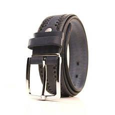 Ремень кожаный Lazar 120-125 см синий l35y1w10, фото 3