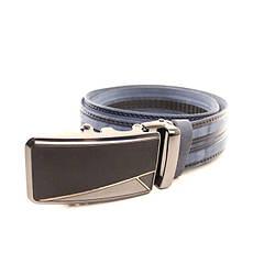 Ремень кожаный Lazar 120-125 см голубой l35y1a31, фото 3
