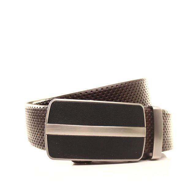 Ремень кожаный Lazar 120-125 см коричневый l35y1a36