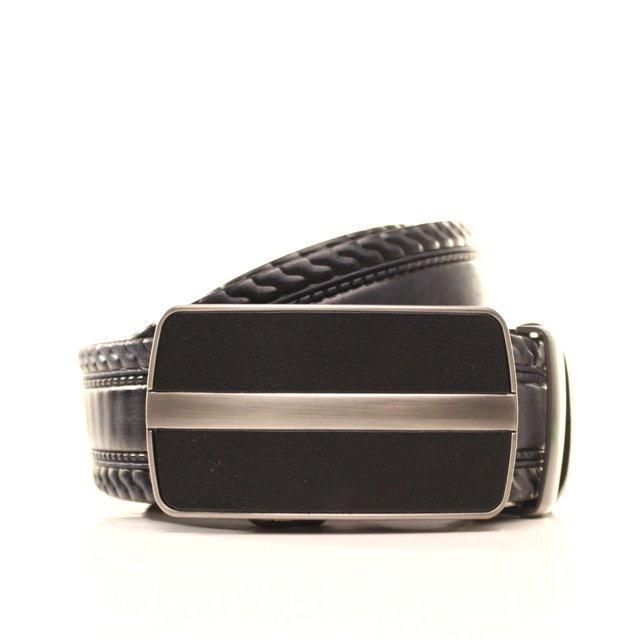 Ремень кожаный Lazar 120-125 см черный l35y1a38