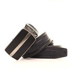 Ремень кожаный Lazar 120-125 см черный l35y1a38, фото 3