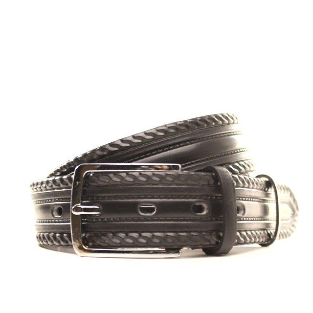 Ремень кожаный Lazar 140-145 см черный l35u1w62-1
