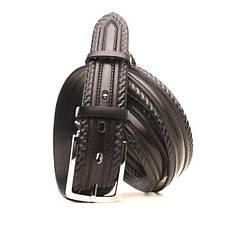 Ремень кожаный Lazar 140-145 см черный l35u1w62-1, фото 2