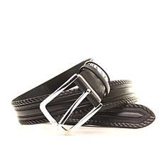Ремень кожаный Lazar 140-145 см черный l35u1w62-1, фото 3