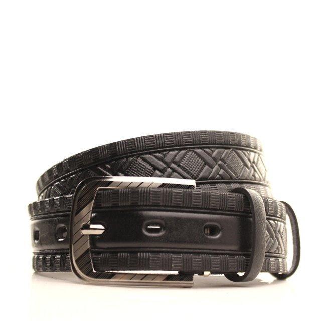 Ремень кожаный Lazar 120-125 см черный l35u1w77