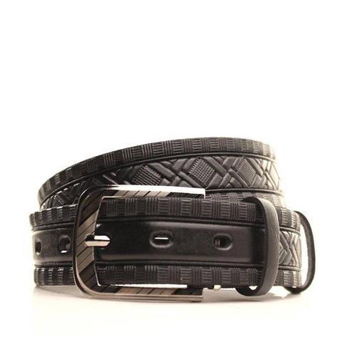 Ремень кожаный Lazar 120-125 см черный l35u1w77, фото 2