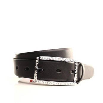 Ремень кожаный Lazar 105-110 см черный L30S0W3, фото 2