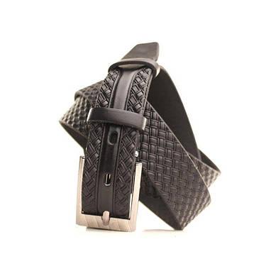 Ремень кожаный Lazar 130-140 см черный L30U1W17-1, фото 2