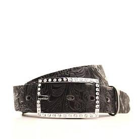 Ремень кожаный Lazar 115 см черный L30S0W8