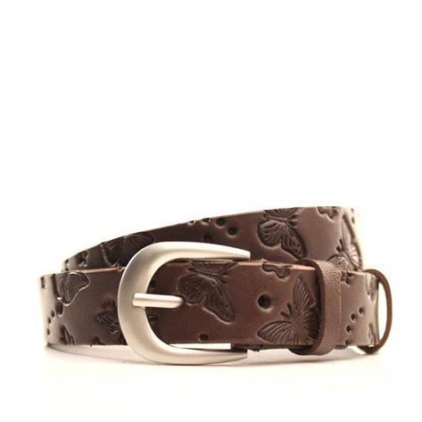Ремень кожаный Lazar 120-125 см коричневый L25Y0W5, фото 2