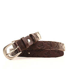 Ремень кожаный Lazar 120-125 см коричневый L25Y0W5, фото 3