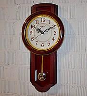 """Настінний годинник з маятником """"Rikon RK4551"""" maroon white (57*29*6 см.), фото 1"""