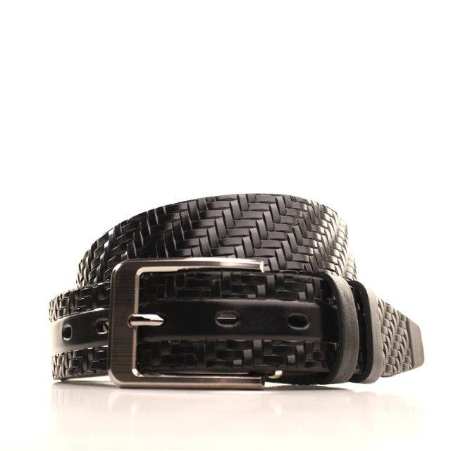 Ремень кожаный Lazar 120-125 см черный L35Y1W18