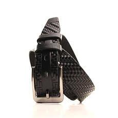 Ремень кожаный Lazar 120-125 см черный L35Y1W18, фото 2