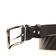 Ремень кожаный Lazar 120-125 см черный L35Y1W18, фото 3