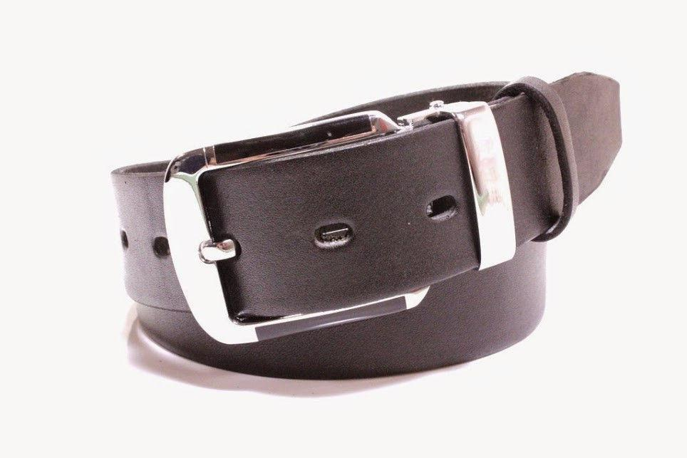 Ремень кожаный Lazar 105-110 см черный Л35У1Ш45