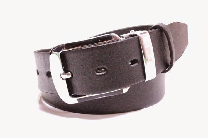 Ремень кожаный Lazar 105-110 см черный Л35У1Ш45, фото 2