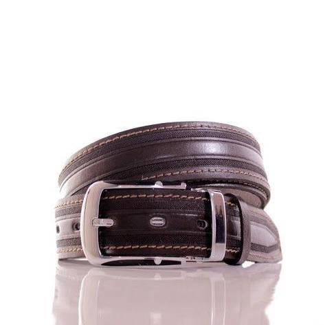 Ремень кожаный Lazar 105-110 см коричневый Л35С1Ш45, фото 2