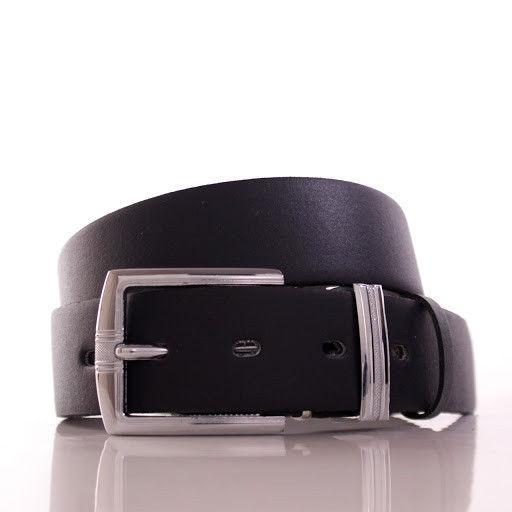 Ремень кожаный Lazar 105-110 см черный Л35С1Ш66
