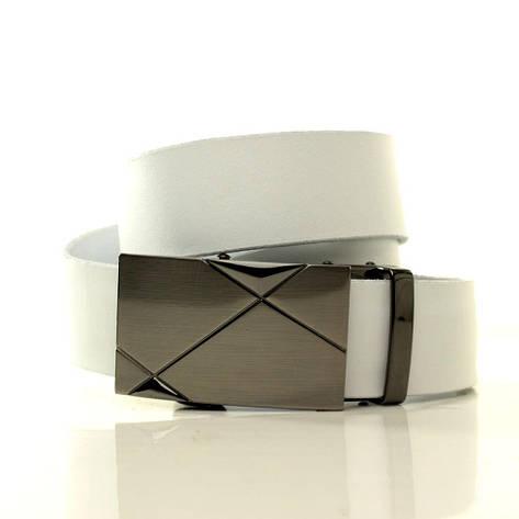 Ремень кожаный Lazar 105-110 см белый L35S1A4, фото 2