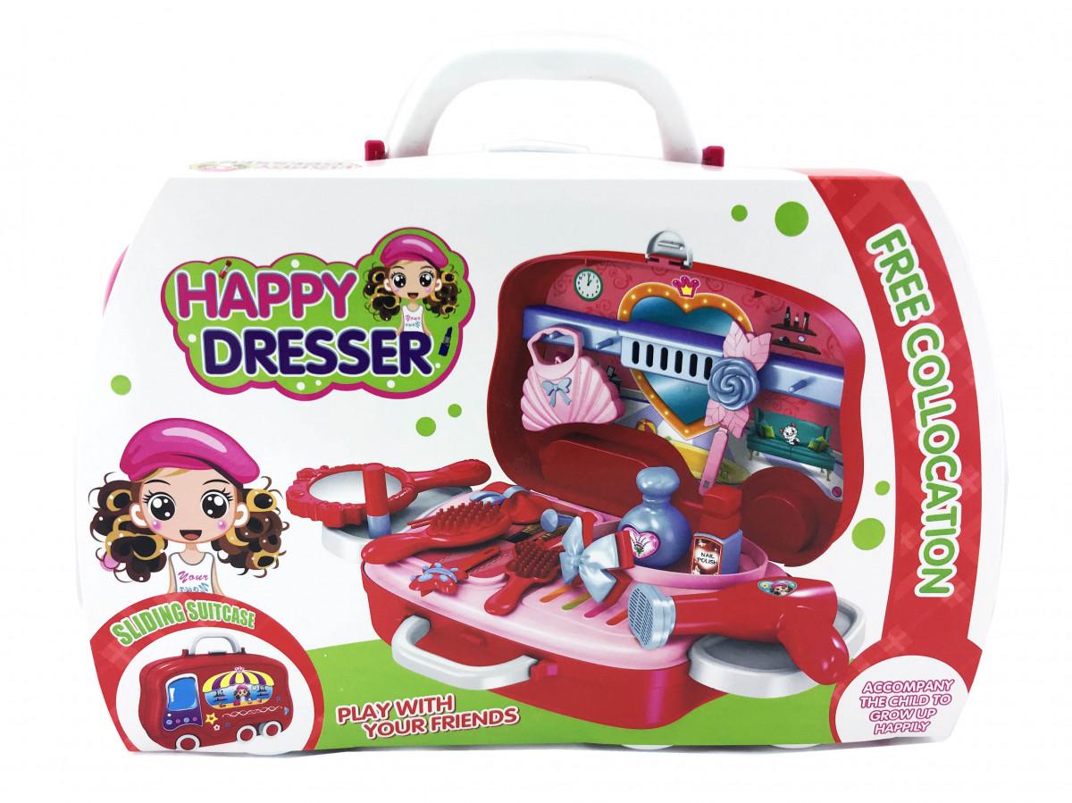 Игровой набор для девочек HAPPY DRESSER 678-103A в чемоданчике