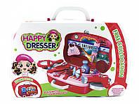 Игровой набор для девочек HAPPY DRESSER 678-103A в чемоданчике, фото 1