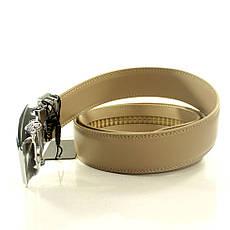 Ремень кожаный Alon 105-110 см кремовый L35A1A7, фото 2