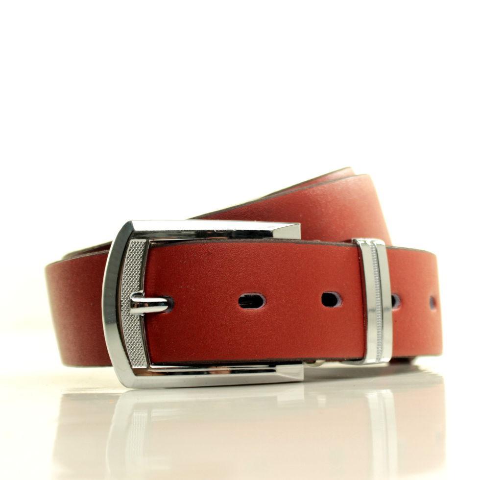 Ремень кожаный Lazar 105-110 см красный L35S1W5
