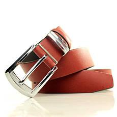 Ремень кожаный Lazar 105-110 см красный L35S1W5, фото 3