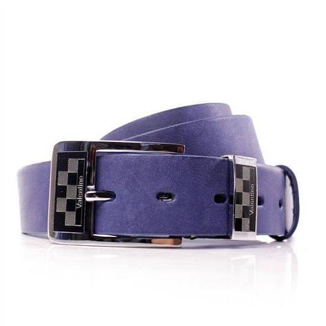 Ремень кожаный Lazar 115-120 см голубой Л35В1Ш28, фото 2