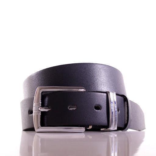 Ремень кожаный Lazar 110-115 см серый Л35С1Ш71