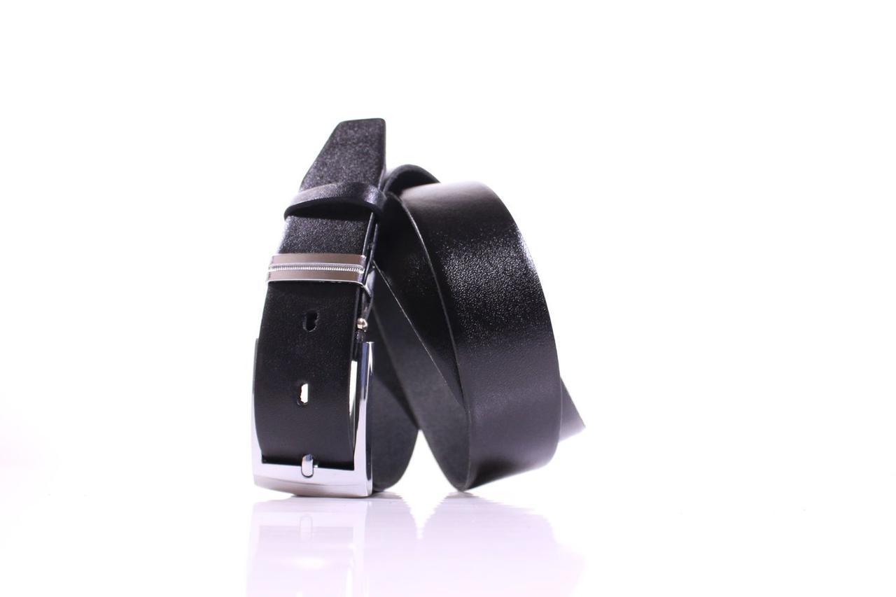Ремень кожаный Lazar 115-120 см черный Л35У1Ш59