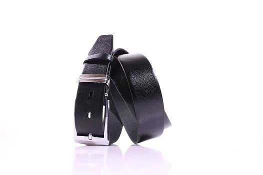 Ремень кожаный Lazar 115-120 см черный Л35У1Ш59, фото 2