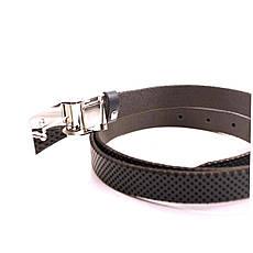 Ремень кожаный Lazar 105-115 см синий L20S0G4, фото 3