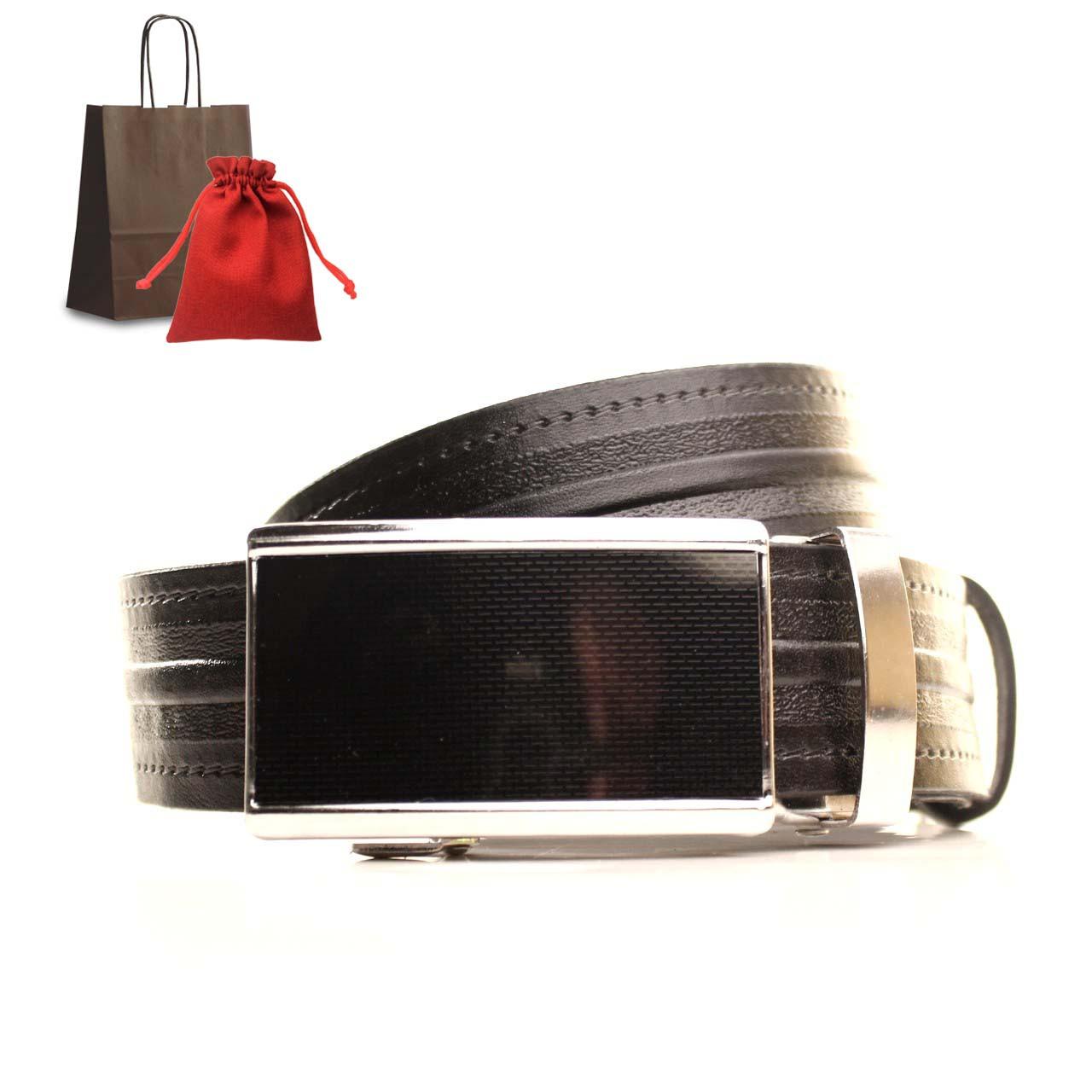 Ремень кожаный Lazar 105-115 см коричневый L35U1A73-M