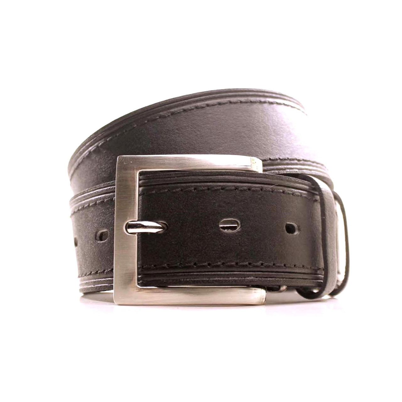 Ремень кожаный Lazar 120-125 см черный L40S1W9