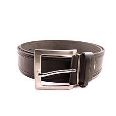 Ремень кожаный Lazar 120-125 см черный L40S1W9, фото 2