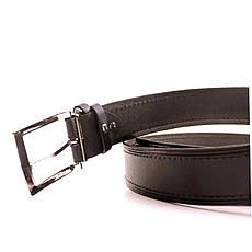 Ремень кожаный Lazar 120-125 см черный L40S1W9, фото 3