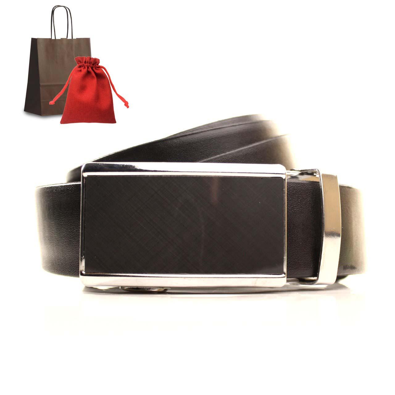 Ремень кожаный Lazar 120-125 см черный L35U1A67-M